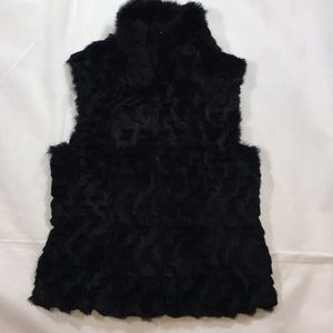 Guess brand REAL RABBIT FUR EUC VEST size Medium